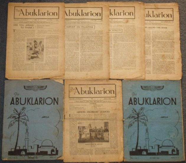 The Abuklarion - RAF Aboukir Newsletter - 7 Issues from 1944